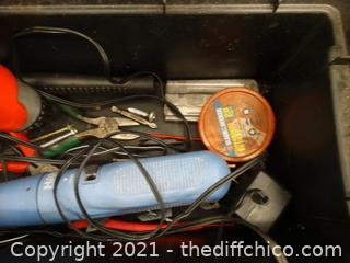 Plastic Tool Box With Contents