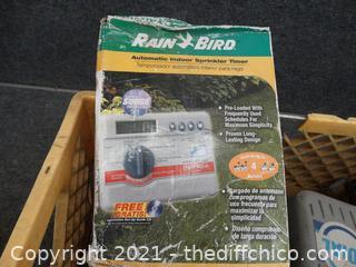 Yellow Crate Of Sprinkler Stuff