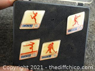 Snickers Olympic Pins