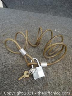 Bike Lock With Key
