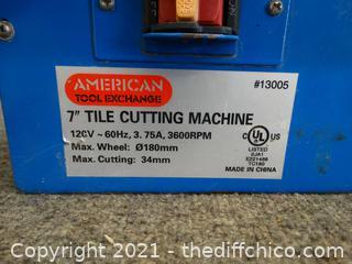 "American Tool Exchange 7"" Tile Cutting Machine wks"