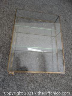 "Glass Hanging Shadow Box 12"" x 9 1/2"" x 5 3/4"""