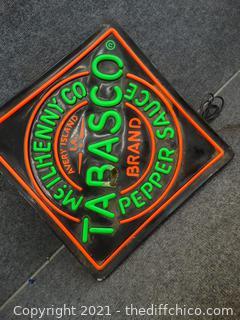 Light Up Tabasco Sign Cord Needs work