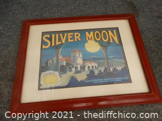 """Silver Moon Sign 14"""" X 18"""""""