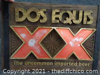 """Des Equis Sign 18"""" x 12"""""""