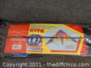Multi Colored Delta Wing  Kite