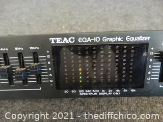 Teac EQA -10 Graphic Equalizer wks