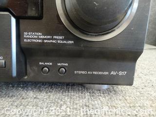 AWA Super T Base Stereo AV Receiver Powers On