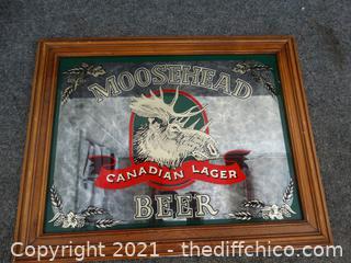 "MooseHead Beer Mirror 19"" X 14 3/4"""