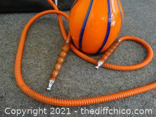 Orange & Blue Hookah With Bag