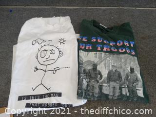 T-Shirts xl & L