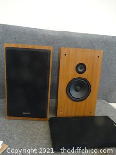 "2 Kenwood Speakers 22"" x8 1/4"" x 13 """