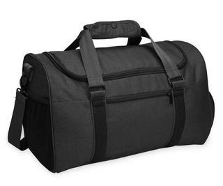 Dark Gray Gym Duffel Bag w Yoga Mat Holder & Ventilated Shoe Area by SPRI Ignite