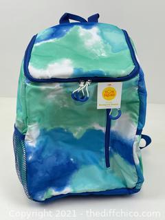 NEW 14.4qt Backpack Cooler Tie Dye Blue - Sun Squad™