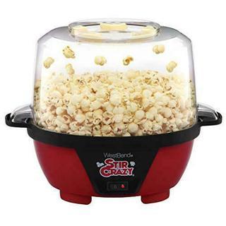 West Bend 82505 Crazy Electric Hot Oil Popcorn Popper Machine with Stirring Rod