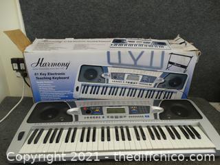 Working  Harmony 16 Key Electronic Teaching Keyboard