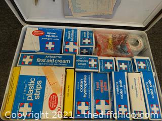 Metal First Aid Kit  With Contents