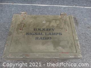 US Navy Signal Lamps Radio Box