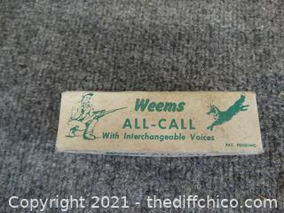 Weems All Call