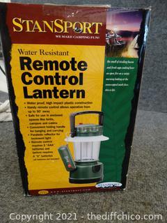 Stan Sport Remote Control Lantern NIB