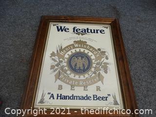 Henry Weinhard's Beer Sign