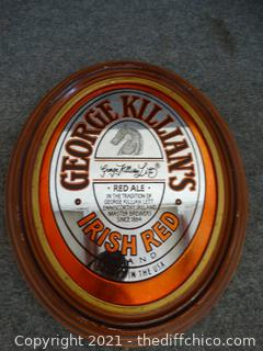 George Killians Beer Mirror Irish Red