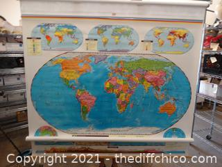 """Large Projector Maps 64"""" x 68"""""""