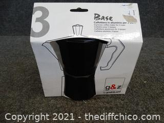 New Expresso 3 Cup Coffee Maker