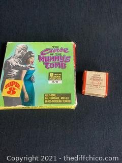 THE CURSE OF THE MUMMY'S TOMB 8MM MOVIE & KODAK PORTRAIT ATTACHMENT LOT!