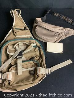 HIKING BACKPACK & FANNY PACK LOT! 3 PIECE LOT!