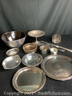VARIETY STAINLESS STEEL, STEEL PEWTER AND MORE LOT! 13 PIECES