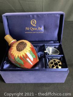 NE'QWA ART FRAGRANCE LAMP COLLECTION PIECE! HAND-PAINTED!