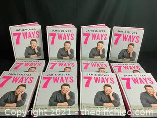 12 NEW* JAMIE OLIVERS 7 WAYS HARDCOVER BOOKS!