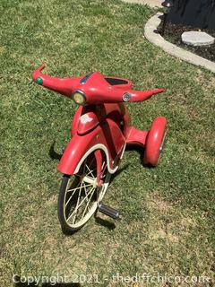 ANTIQUE AFC 1940s RED TRICYCLE! ART DECO! METAL