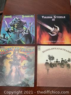VINTAGE RECORD ALBUM LOT! VIRGIN STEEL & MORE! 4 ALBUM LOT