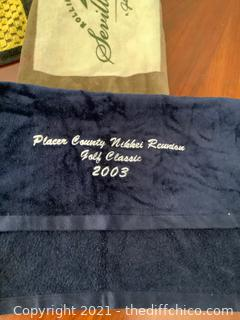 GOLF TOWEL LOT! 2 BRAND NEW TOWELS INCLUDED!