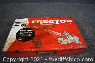 Erector Set w/metal case
