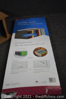 5 NIB Letter Size Hanging Folder Fames