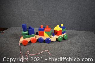 Wood Toy Train