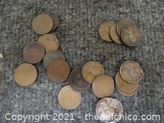 Wheat & Indian Head Pennies