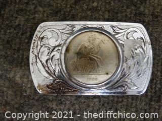 1856 Coin Belt Buckle