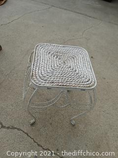 """White Metal Plant Stand 14"""""""