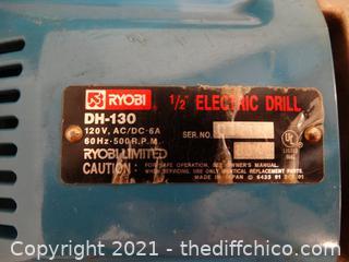 "Ryobi 1/2"" Electric Drill wks"