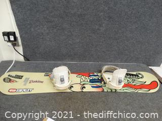 "Snow Board With Bindings, 53"""
