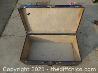 "Vintage Blue Trunk 12 1/2"" x 30"" x 16"""