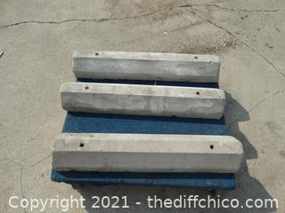 """Cement Curbs  rolling cart not included 36""""x  5 1/2"""""""