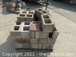 Pallet Of Cinder Blocks      BRING HELP!