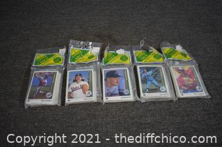 5 Pkg. 1989 NIB Collectible Baseball Cards