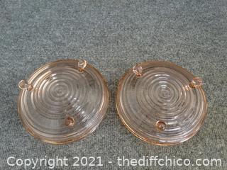 1 Pink Swirl Depression Glass Bowls