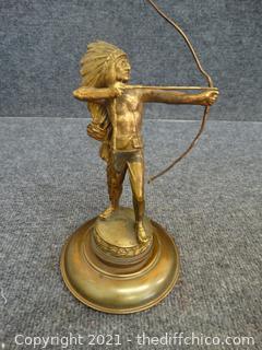 Native American Indian Statue Brass?